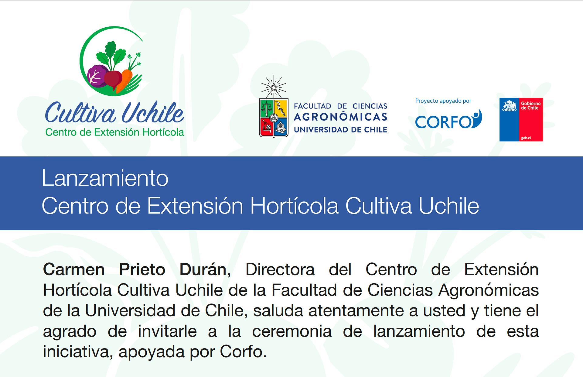 Lanzamiento Centro de Extensión Hortícola Cultiva Uchile