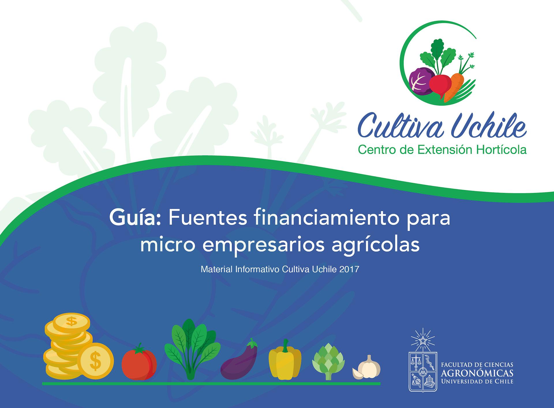 Guía: Fuentes financiamiento para micro empresarios agrícolas.