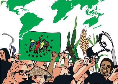 Las luchas de la Vía Campesina. Por la reforma agraria, la defensa de la vida, la tierra y los territorios